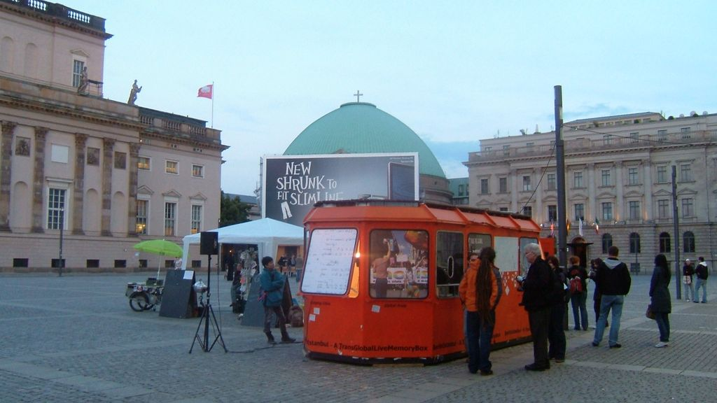 Creative Lounge within the project Transglobal Memory Box Berlin/Istanbul, Bebelplatz Berlin