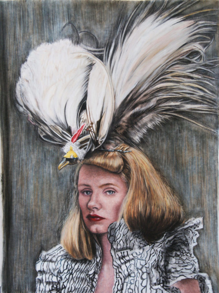Woman with the bird hat 2